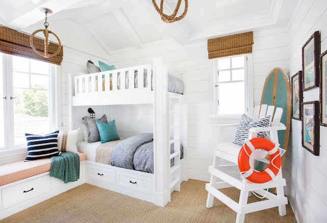 Tongue-and-groove-bunk-room.-Coastal-bunk-room-with-tongue-and-groove-walls.-Bunkroom-TongueandGroove-CoastalInteriors-Blackband-Design.